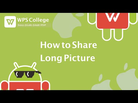 WPS Office Tutorial [Kingsoft Office] - How To Share Long Picture With WPS For Android