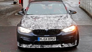 FIRST LOOK!! BMW M3 CS spied with new tires and carbon fiber bodywork
