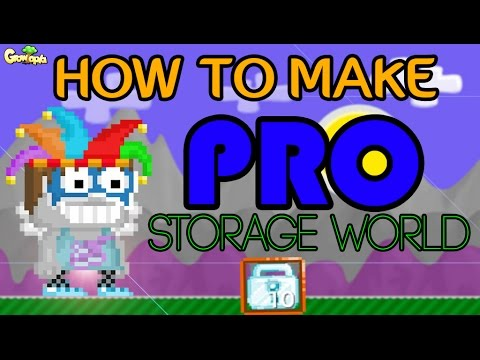 Growtopia | Building a PRO Storage World.