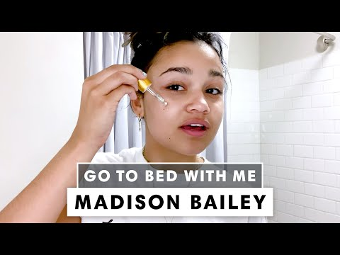 'Outer Banks' Star Madison Bailey's Nighttime Skincare Routine | Go To Bed With Me | Harper's BAZAAR