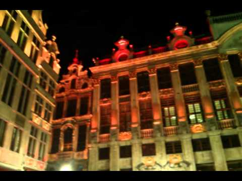 Brussels Grand Place, music and light