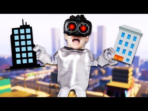 Smashing Cities and Making Tornadoes! - VRobot Gameplay - Giant Robot Simulator HTC Vive