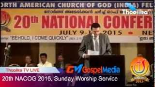 20th NACOG 2015, Sunday Worship Service