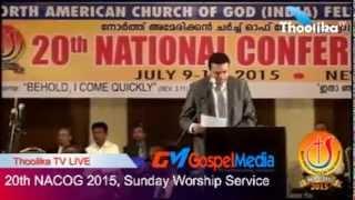 20th NACOG 2015, Sunday Worship Service