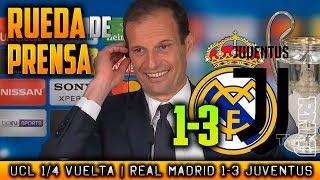 Real Madrid 1-3 Juventus RUEDA DE PRENSA de ALLEGRI post CUARTOS Champions (11/04/2018)
