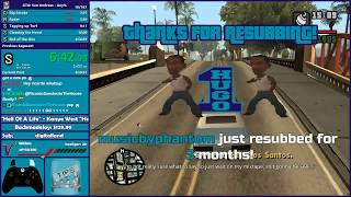 GTA San Andreas Any% Speedrun Attempt - Hugo_One Twitch Stream - 1/29/2017