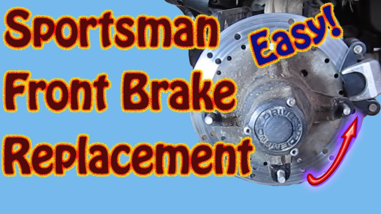 hight resolution of how to replace front brake pads on a 2003 polaris sportsman 500 atv diy youtube