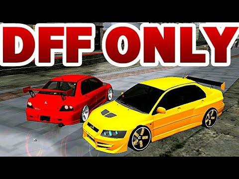 GTA SA ANDROID MITSUBISHI EVOLUTION 7 and 8 Car Pack DFF ONLY NO TXD