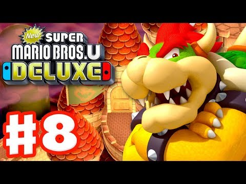 New Super Mario Bros U Deluxe - Gameplay Walkthrough Part 8 - Peachs Castle! (Nintendo Switch)