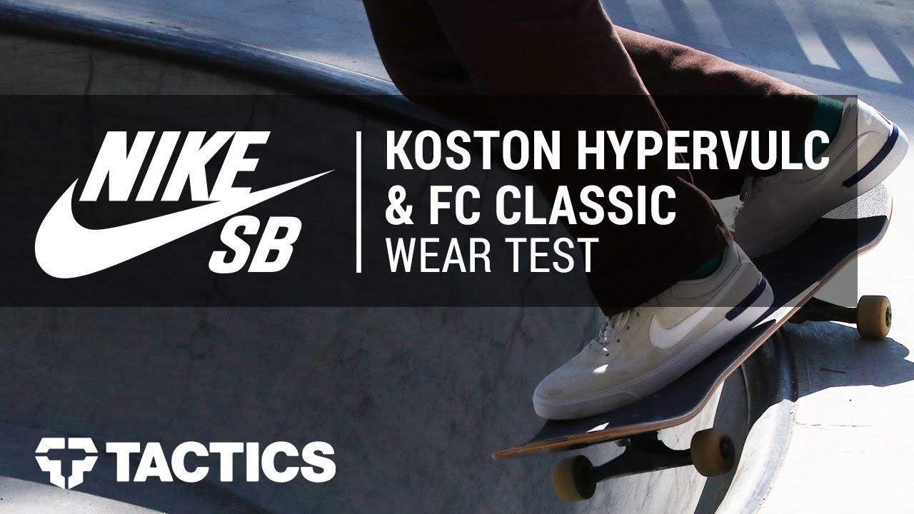 89d5b01a505f Nike SB Koston Hypervulc   FC Classic Skate Shoes Community Wear Test -  Tactics.com