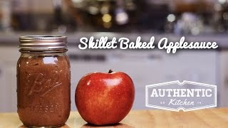 Skillet Baked Apple Sauce