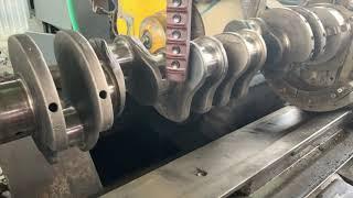 Запчасти в работе: Ремонт шатунных шеек коленвала двигателя 14.0л дизель Cummins N14