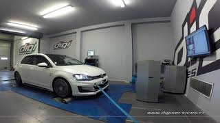 VW Golf 7 2.0 tdi 184cv Reprogrammation Moteur @ 228cv Digiservices Paris 77 Dyno