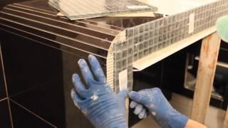 Укладка мозаики(Облицовка мозаикой короба под умывальник.3D ванны http://remont.bz.ua/video/pano21.swf., 2014-02-09T16:08:16.000Z)