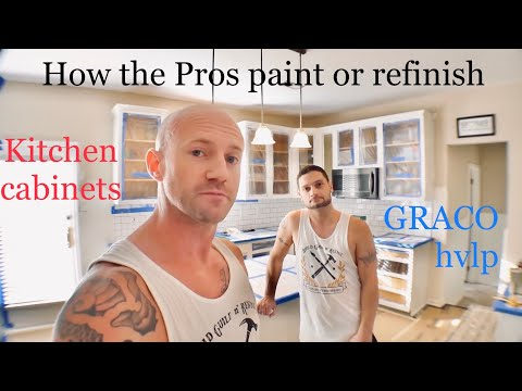 how-to-paint-or-refinish-kitchen-cabinets-with-graco-finish-pro-9.5-hvlp-(panasonic-g7-&-gh4)