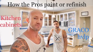 How to paint or refinish kitchen cabinets with Graco Finish Pro 9.5 HVLP (Panasonic G7 & GH4)