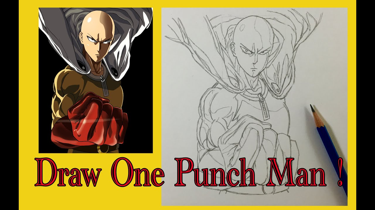 How To Draw One Punch Man Youtube
