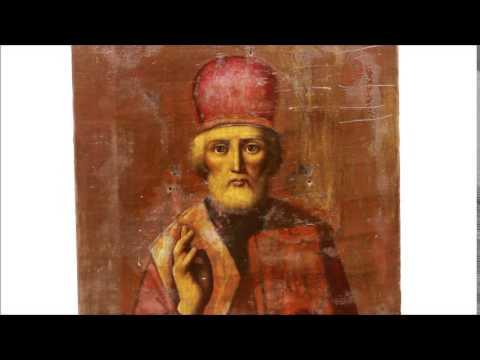 Купить икону Николая Угодника - Старинная икона святитель Николай Чудотворец. D0022