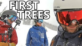 Snowboard - First Day Snowboarding in the Trees