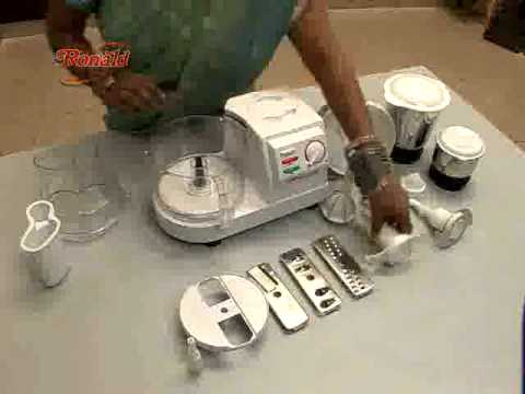 ronald food processor mixer grinder attachments youtube. Black Bedroom Furniture Sets. Home Design Ideas