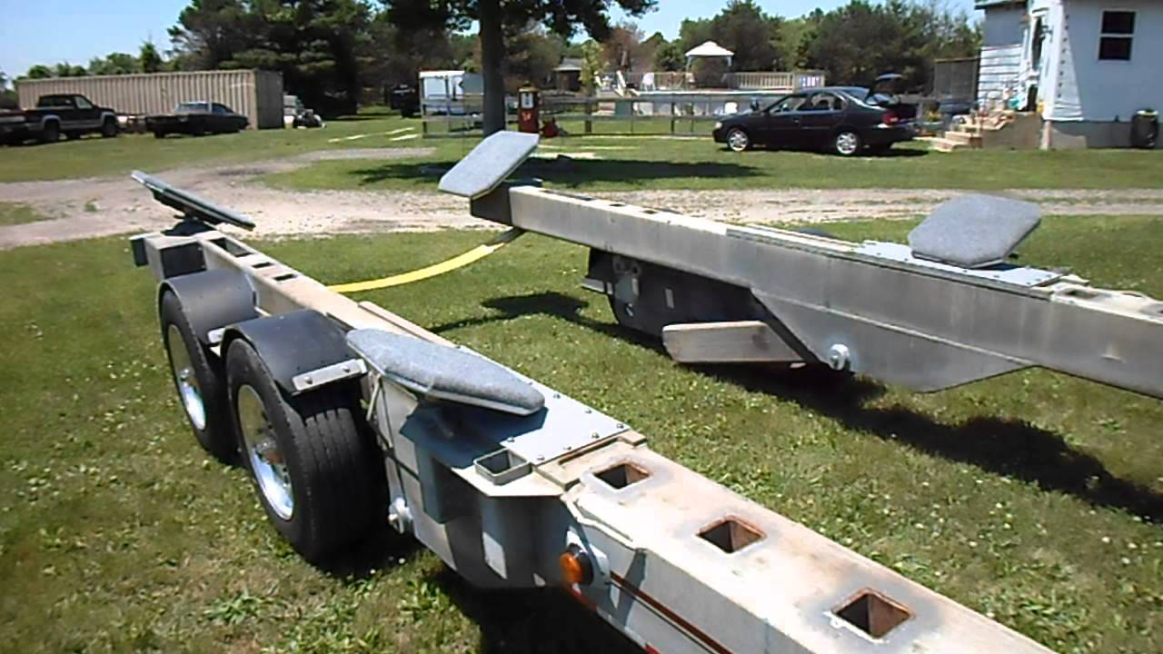 Conolift trailter yh 812 hydraulic boat trailer youtube for Motor lift for sale