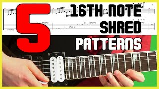 Top 5 3nps 16th Note Shred Picking Pattern EVERY Guitarist Should Know