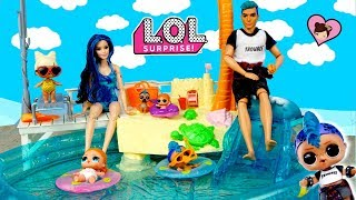 Video LOL Punk Boi Family Barbie Pool  Routine with LOL Vacay Baby Family download MP3, 3GP, MP4, WEBM, AVI, FLV Juli 2018