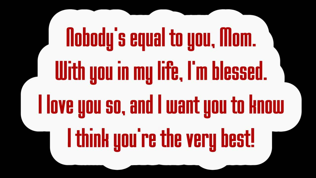 poem mother s day