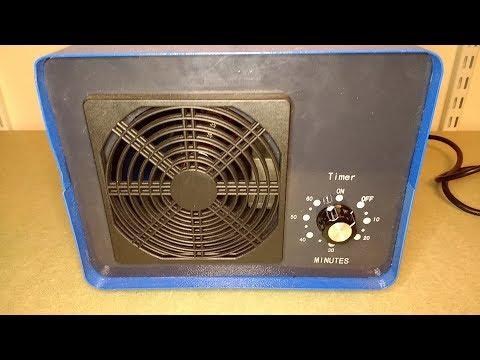 Inside an ozone room deodoriser.