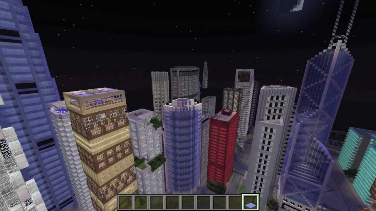 Huge Modern Minecraft City E Land HD DOWNLOAD LINK