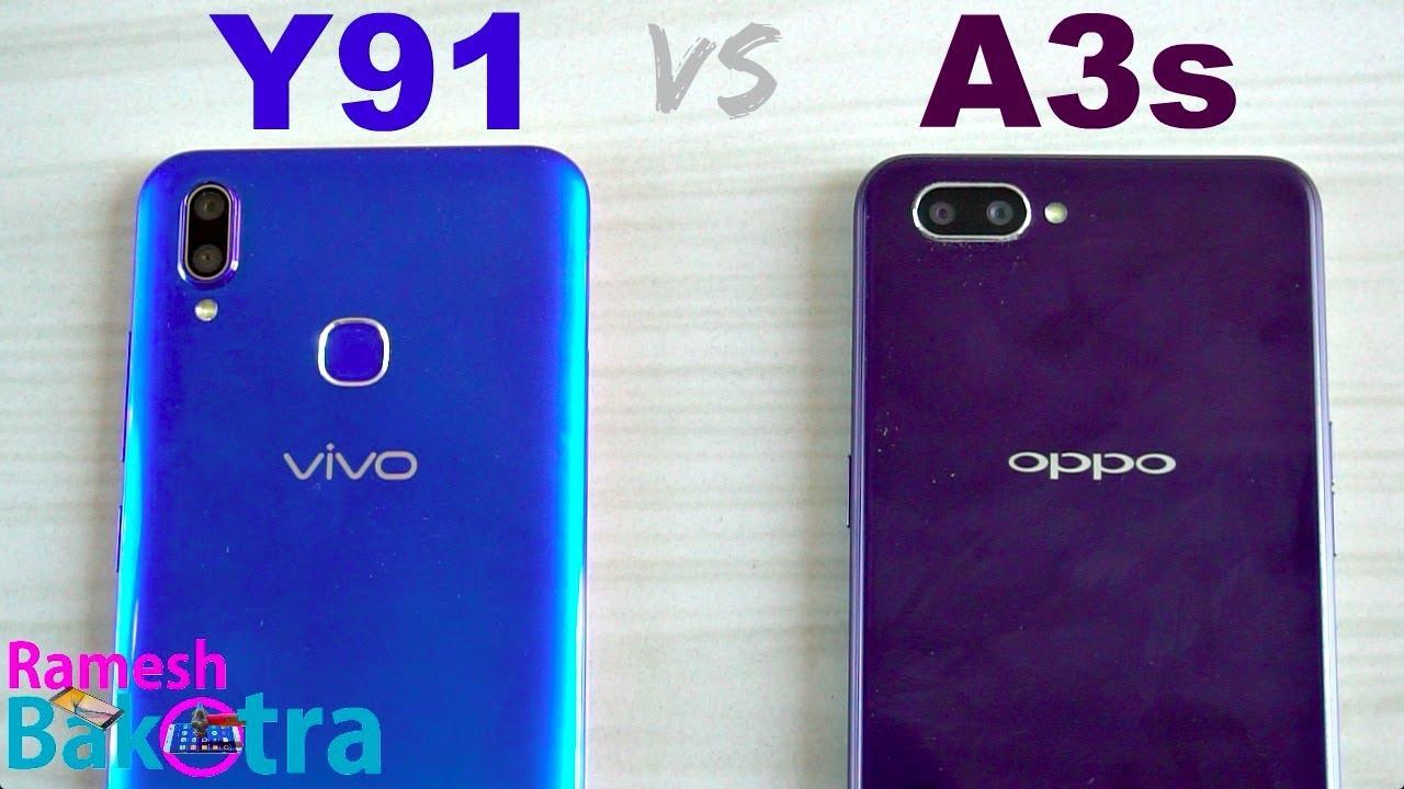 Vivo Y91 vs Oppo A3s SpeedTest and Camera Comparison