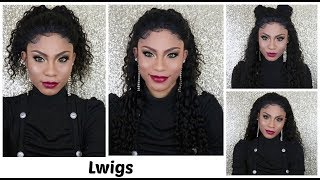 4 ways to style a lacefront Wig |No glue/gel/tape ft. Lwigs