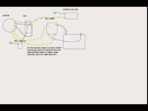 pit bike wire diagram youtube rh youtube com