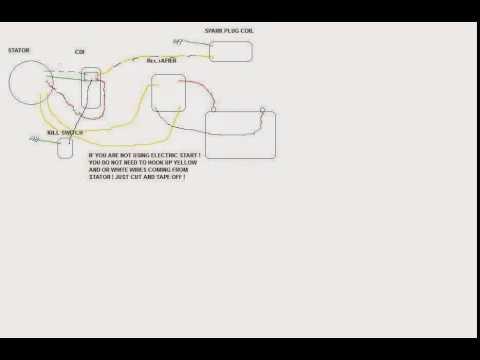 pit bike wire diagram ! - youtube