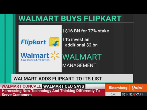 Walmart's Management On Flipkart Acquisition