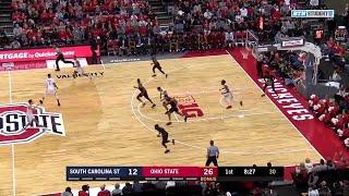 First Half Highlights: South Carolina State at Ohio State   Big Ten Basketball