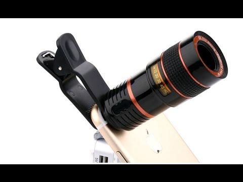 Mobile phone telescope lens youtube