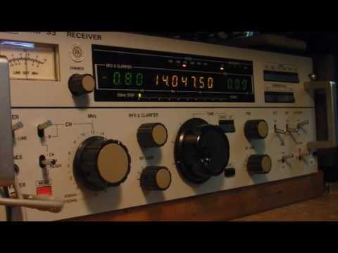 JRC NRD-93   Listening to W1AW CW Practice