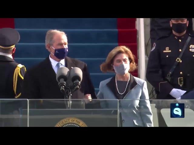 لحظة قدوم قادة ورؤساء وكبار الشخصيات الأمريكية لحفل تنصيب جو بايدن رئيساً للولايات المتحدة الأمريكية