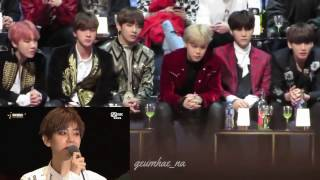 161202 MAMA 2016 - BTS reaction to EXO - Transformer + Monster