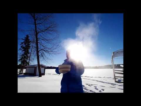 Throwing Boiling Water in Negative 21 Degrees Fahrenheit ~ Nevis, Minnesota