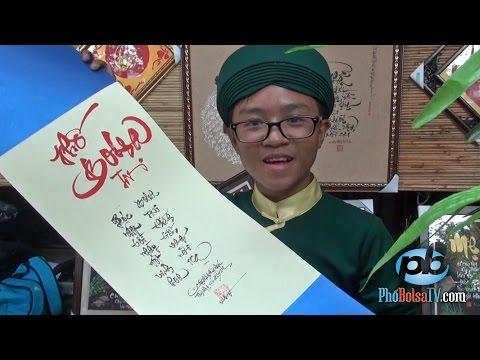 Gặp ông đồ viết thư pháp trẻ nhất Sài Gòn