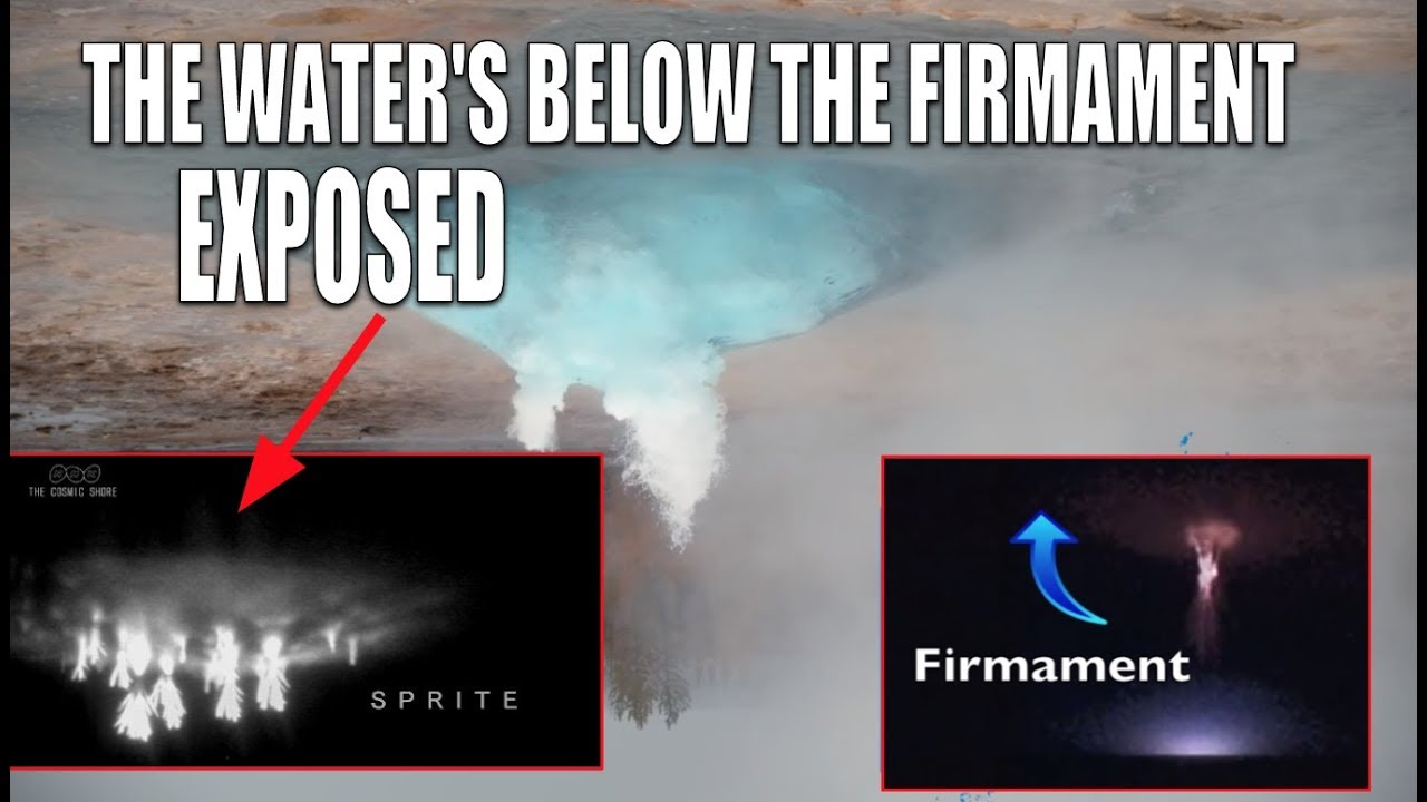 THE WATERS BELOW THE FIRMAMENT FULLY EXPOSED AND CAPTURED ON VIDEO