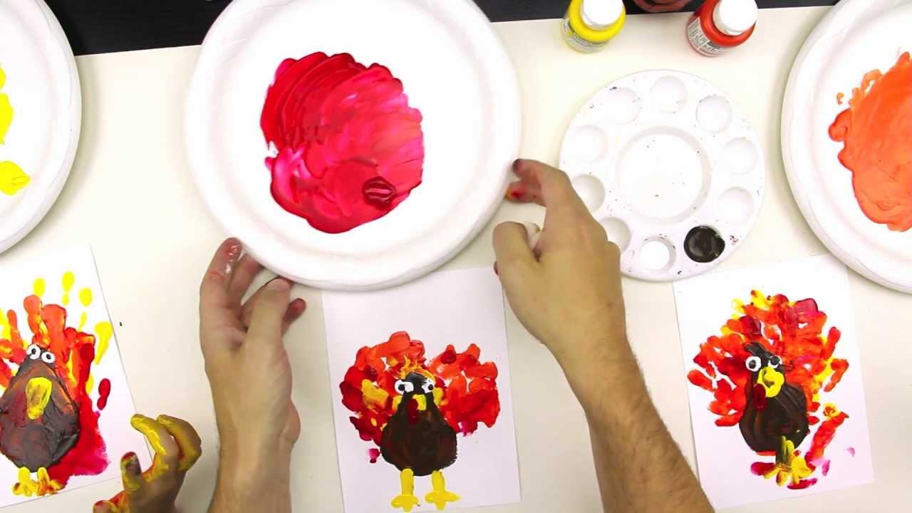 finger paint a turkey youtube
