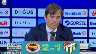 Fenerbahce 2-1 Bursaspor maç sonrası Phillip Cocu basın acıklaması