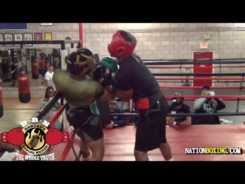 GYM WARS!! PORTER SPARRING WITH MIDDLEWEIGHT BRANDON ADAMS DONTAESBOXINGNATION