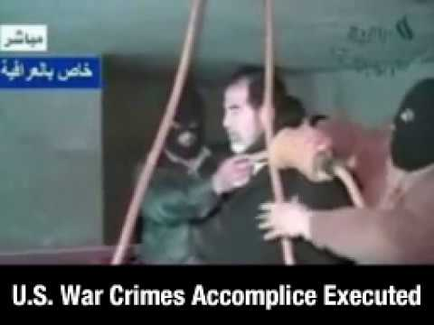 Saddam Hussein, US War Crimes Accomplice, was Executed, Hung