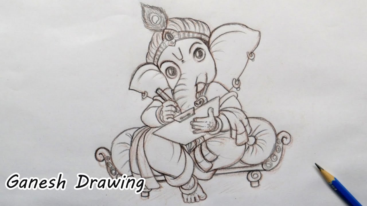 Ganesha Drawing Lord Ganesha Pencil Sketch Ganesha Cartoon Drawing Ganesha Drawing Youtube