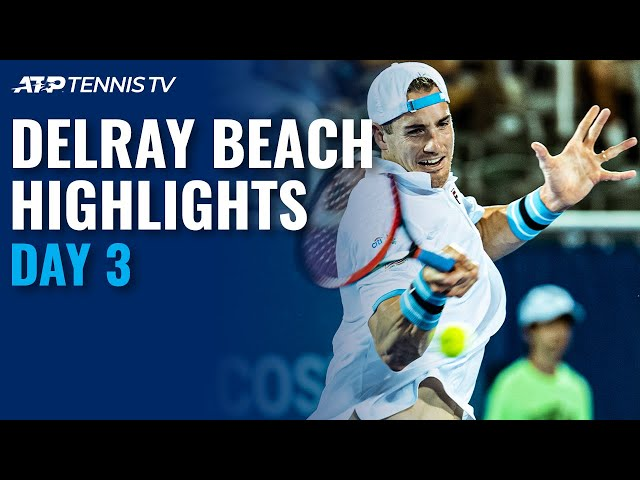 Harrison Stuns Top Seed Garin; Isner, Korda Set QF Clash | Delray Beach Open 2021 Highlights Day 3