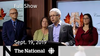 The National for Sept. 19, 2019 — Blackface Fallout, Vaping …